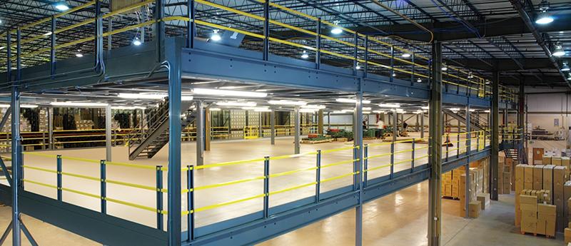 Mezzanines 3d logistic for Mezzanine guard rail